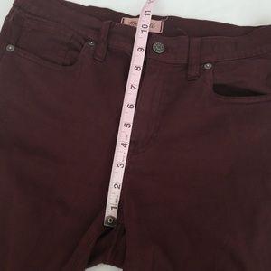 Madewell Jeans - Madewell maroon skinny skinny highrise jeans -Bo